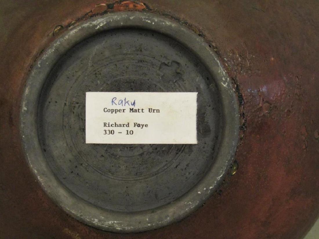 Richard Foye Copperized Raku Ceramic Urn - 6