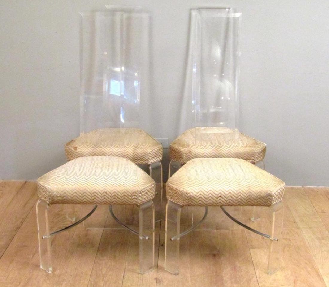Set of 4 Mid Century Lucite Side Chairs