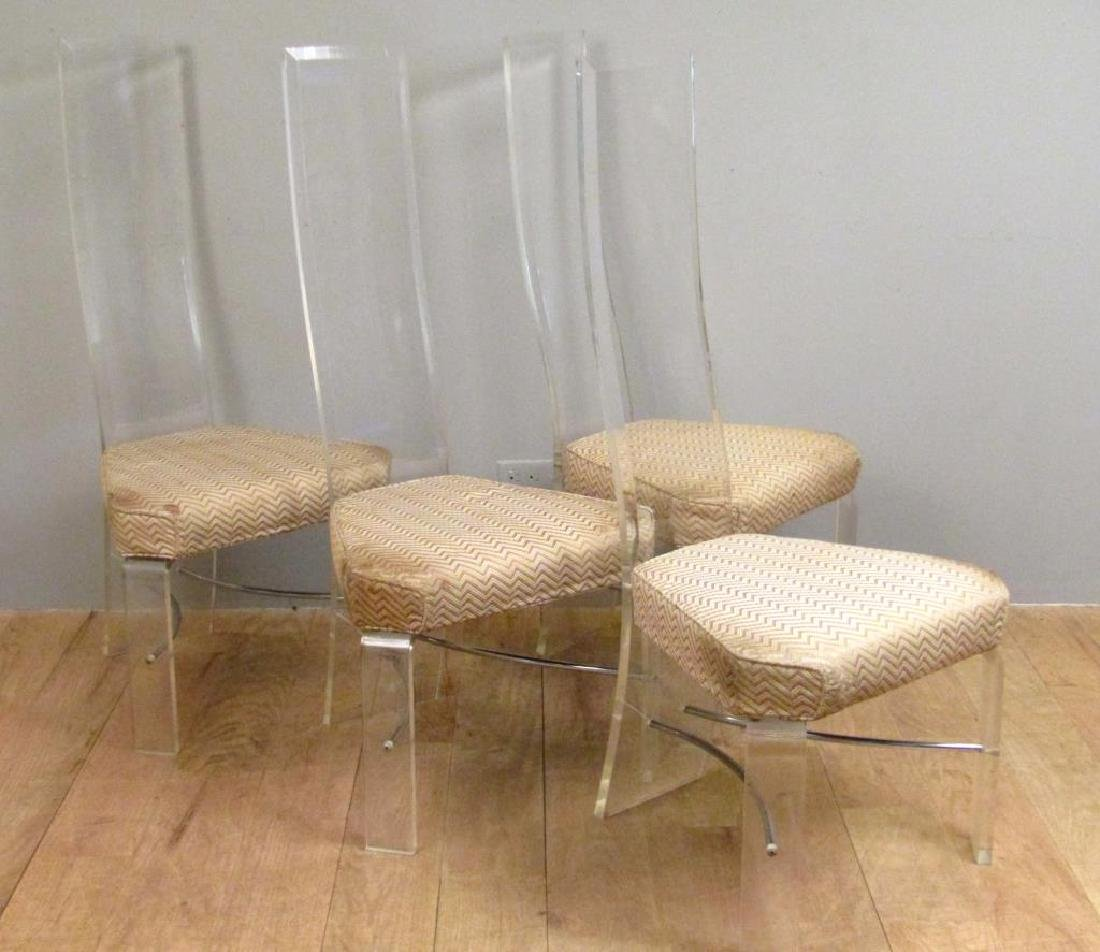 Set of 4 Mid Century Lucite Side Chairs - 2