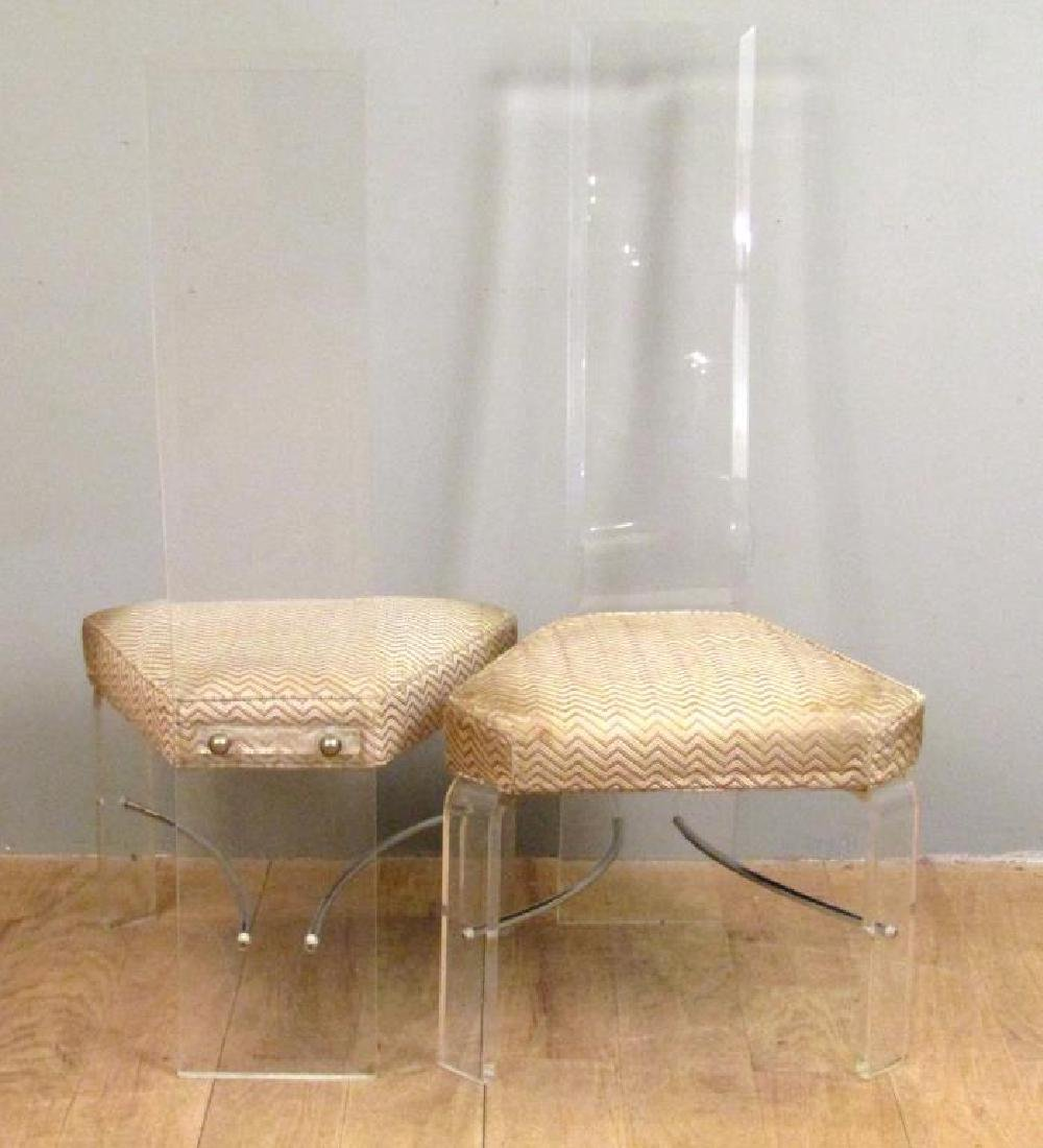 Set of 4 Mid Century Lucite Side Chairs - 3