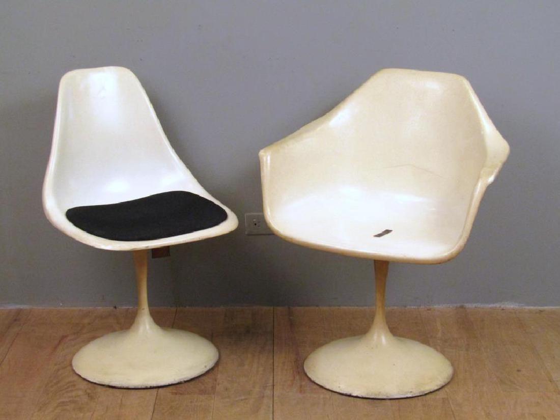 2 Mid Century Saarinen Style Chairs
