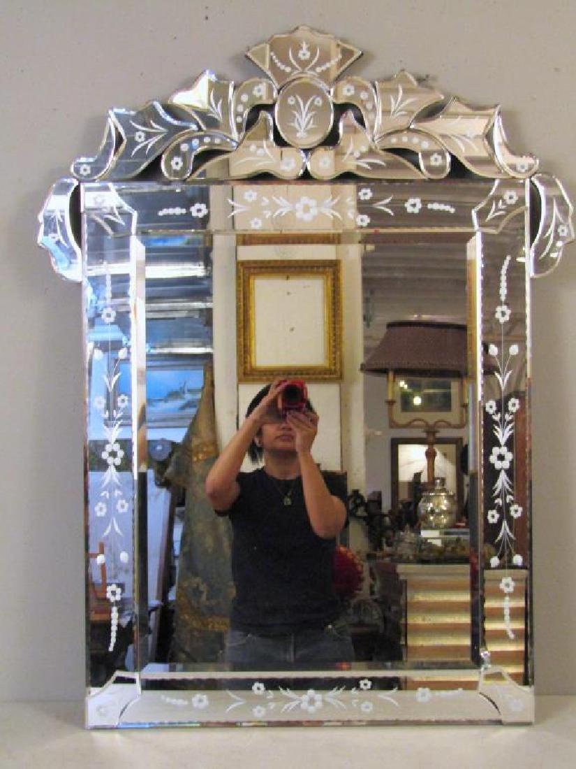 Venetian Style Beveled Glass Mirror