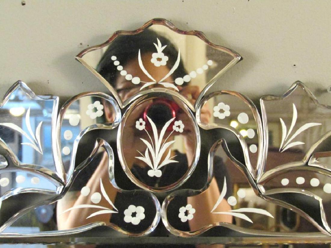Venetian Style Beveled Glass Mirror - 2