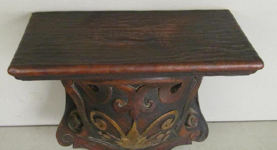 Antique Carved Wood Bracket - 2