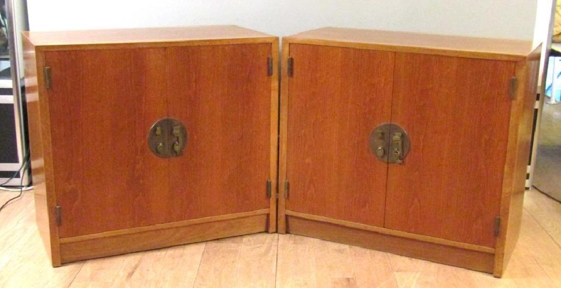 Pair Edward Wormley for Dunbar Cabinets