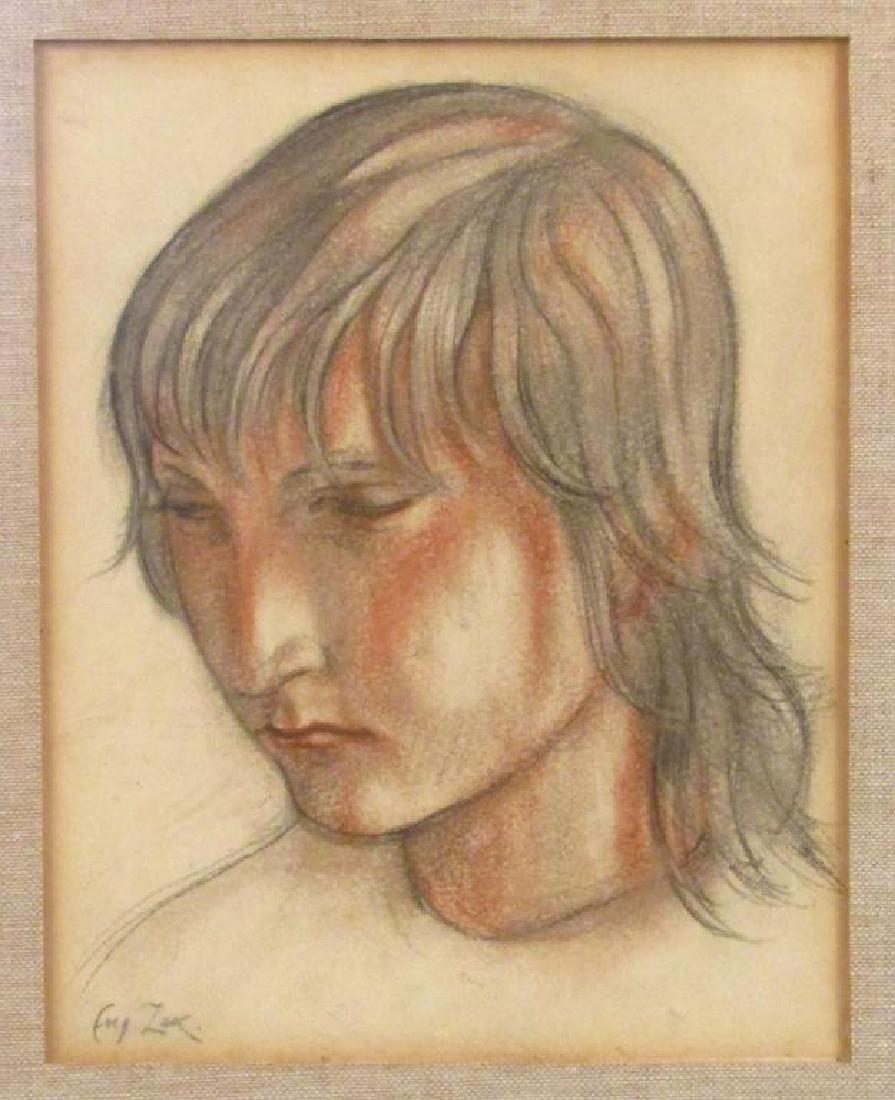 Eugeniusz Zak (Polish 1884 - 1926) - Pastel on Paper **