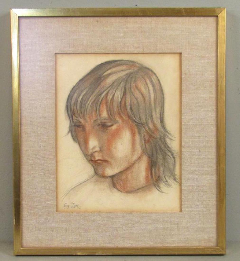 Eugeniusz Zak (Polish 1884 - 1926) - Pastel on Paper ** - 2
