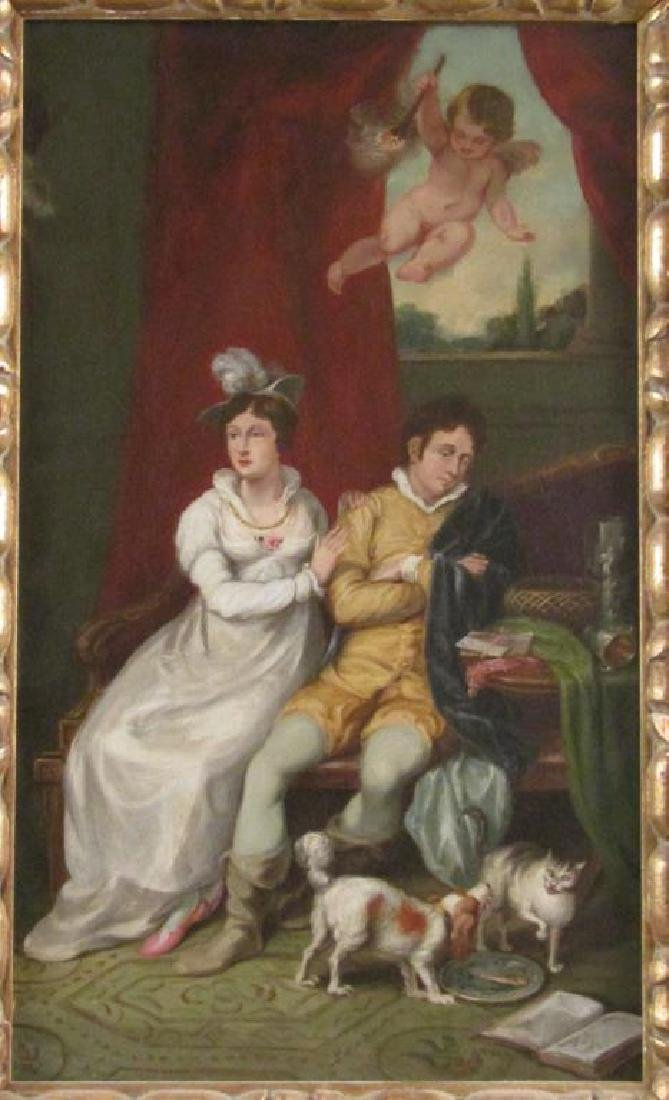 Unsigned - Antique Oil on Canvas