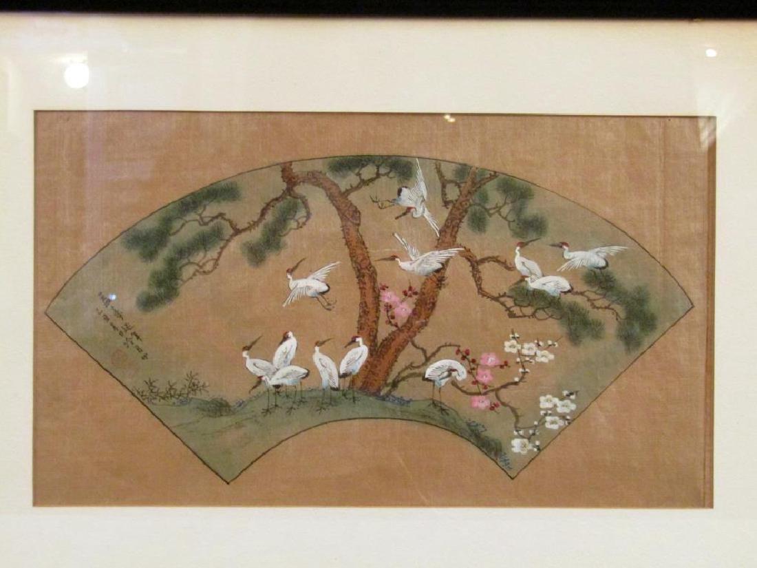 3 Japanese Silk Paintings - 2