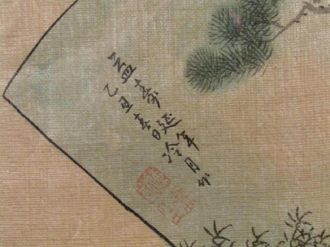 3 Japanese Silk Paintings - 3