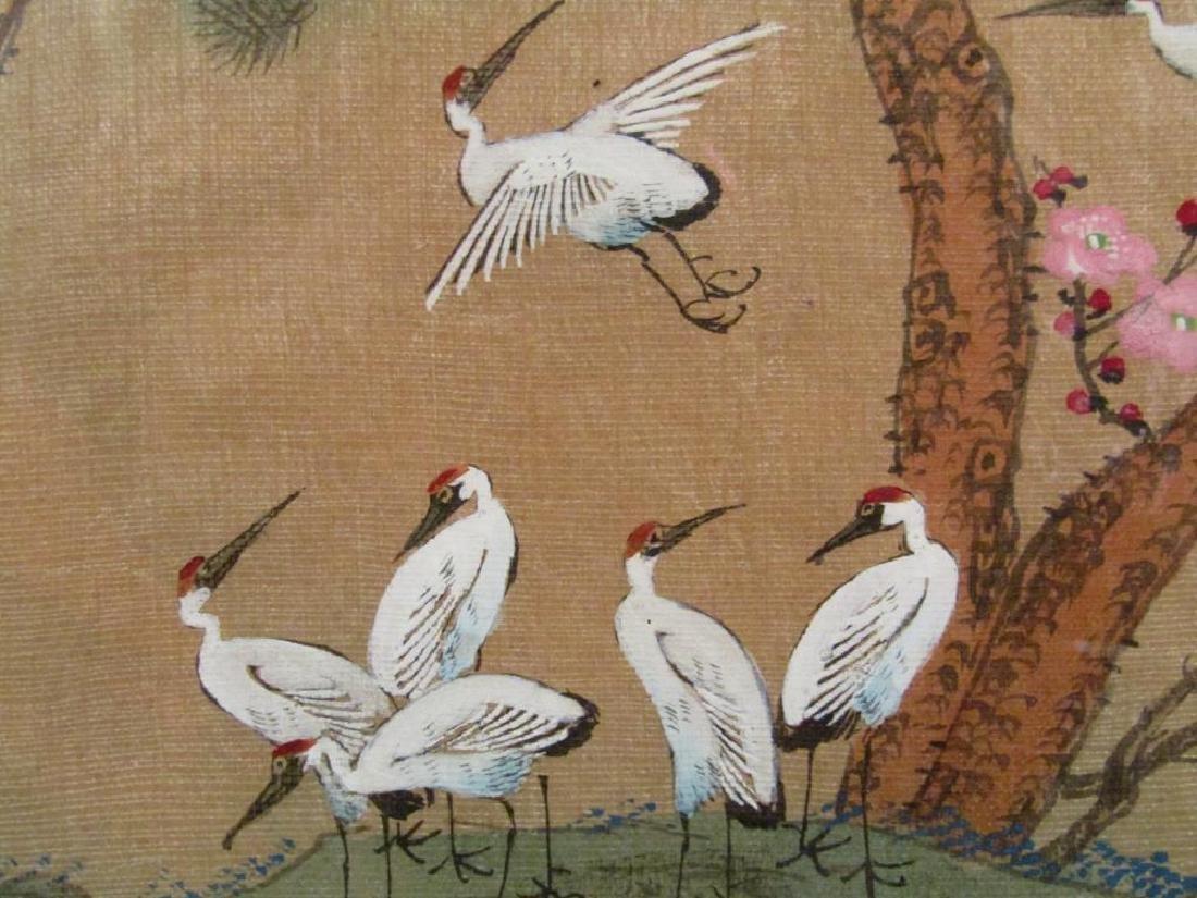 3 Japanese Silk Paintings - 4