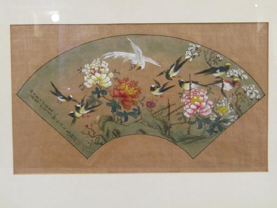 3 Japanese Silk Paintings - 5