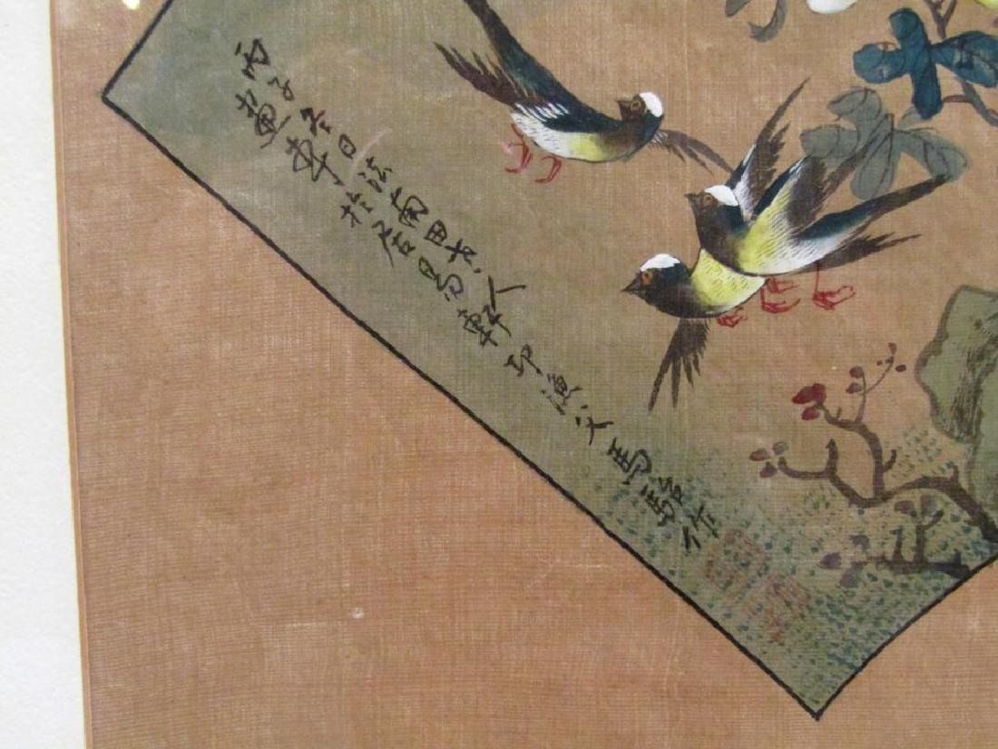 3 Japanese Silk Paintings - 6