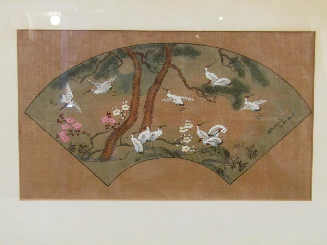3 Japanese Silk Paintings - 7