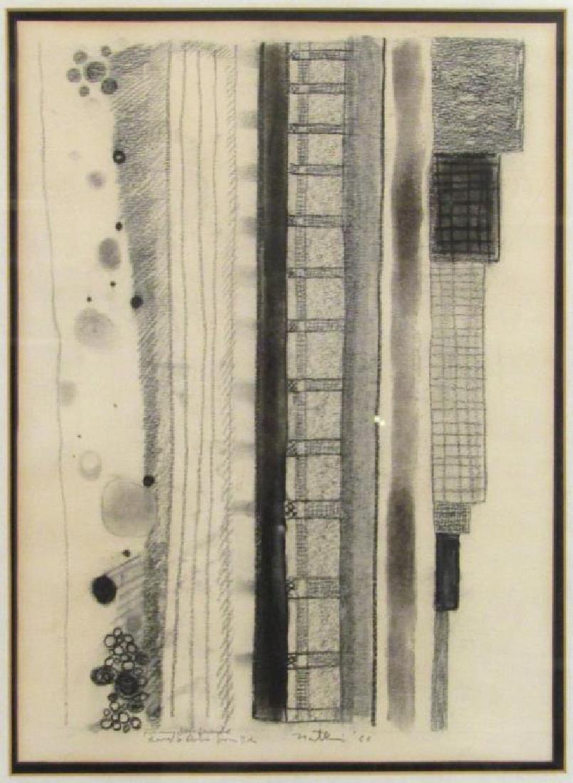 Robert Natkin - Charcoal on Paper