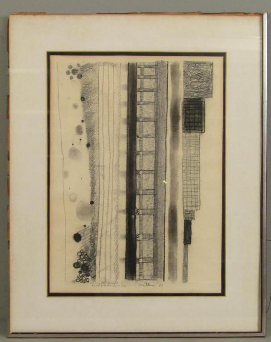 Robert Natkin - Charcoal on Paper - 2