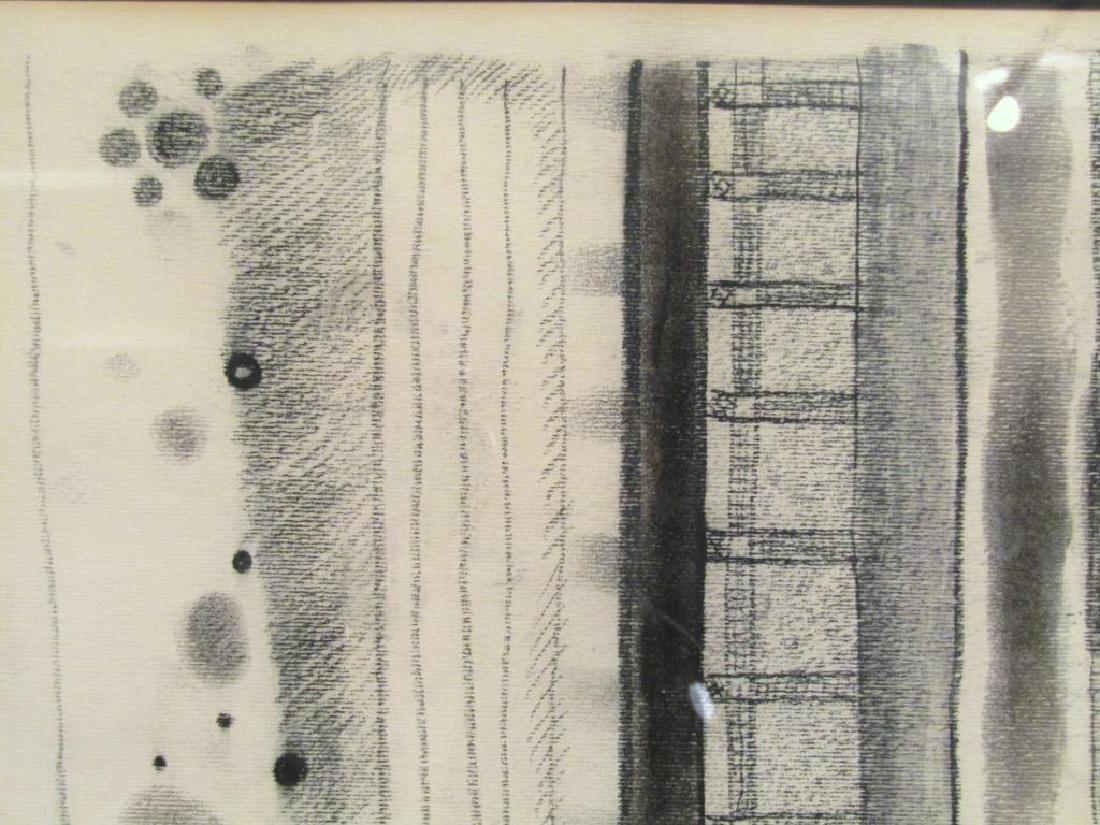 Robert Natkin - Charcoal on Paper - 3