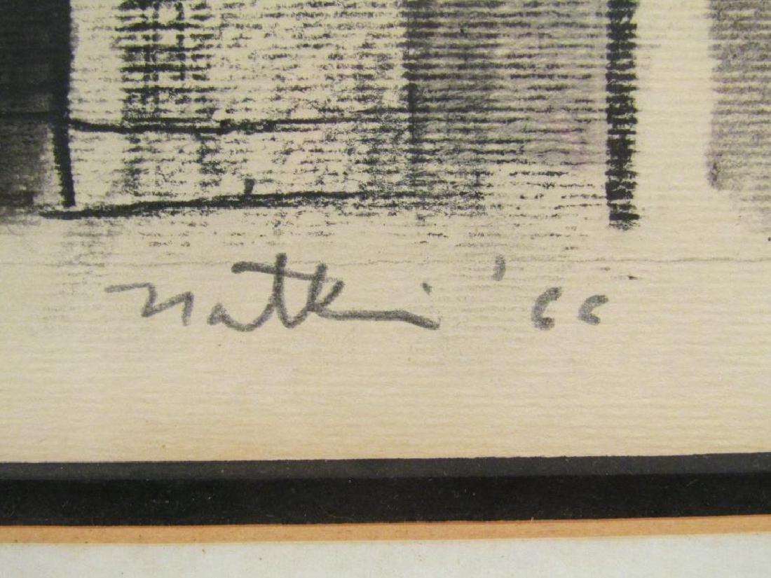 Robert Natkin - Charcoal on Paper - 5