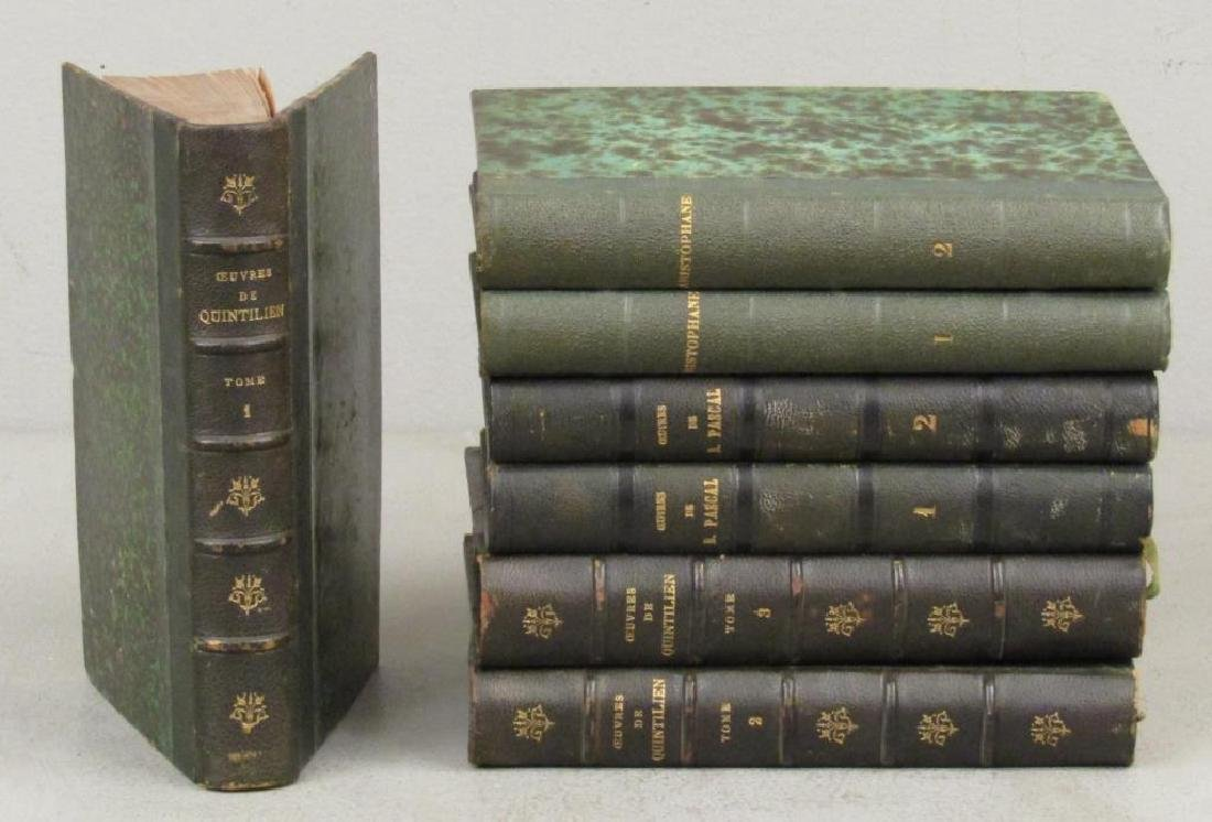3 Sets of Leather Bound Books