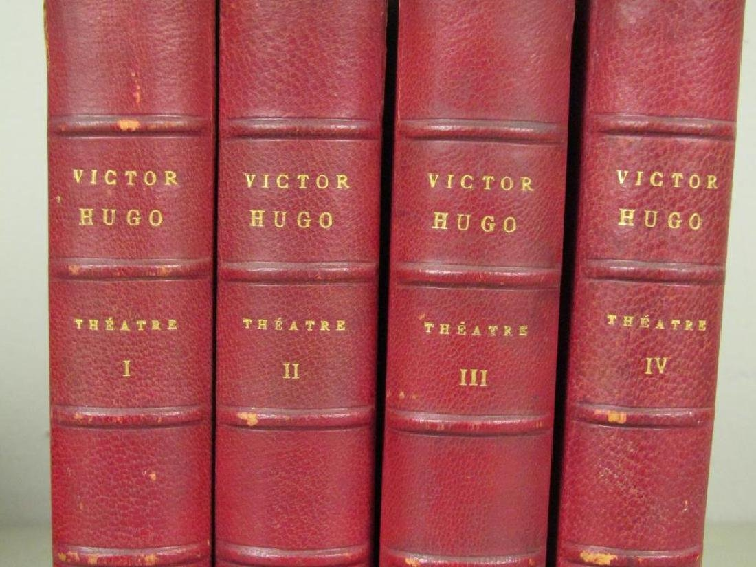 2 Sets of Red Leather Bound Books - 3