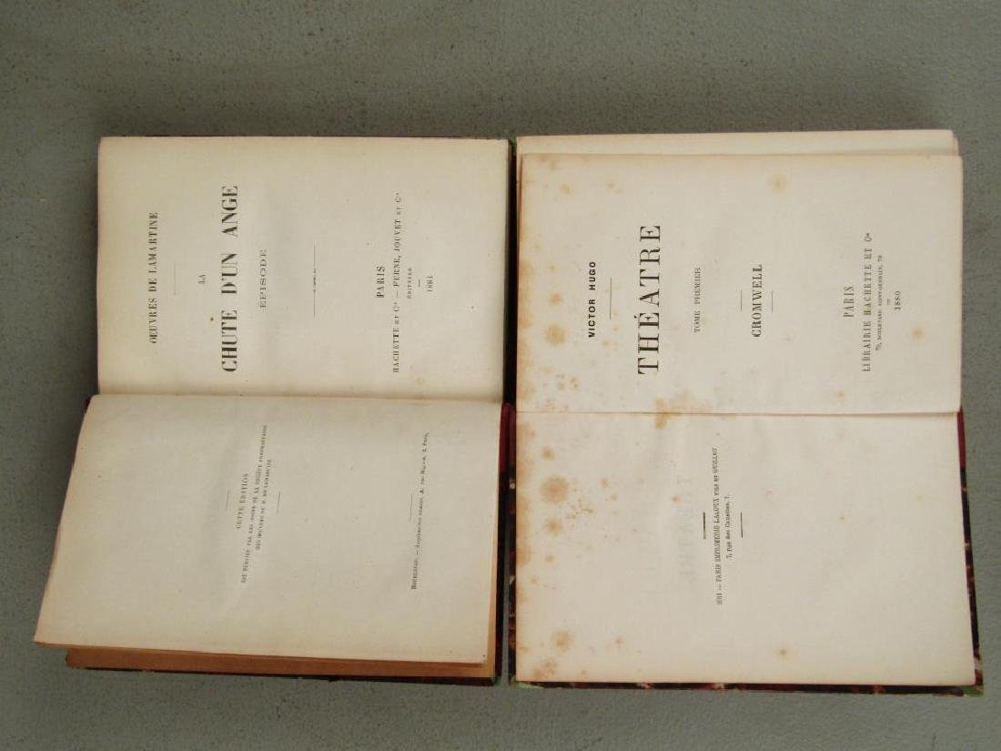 2 Sets of Red Leather Bound Books - 4