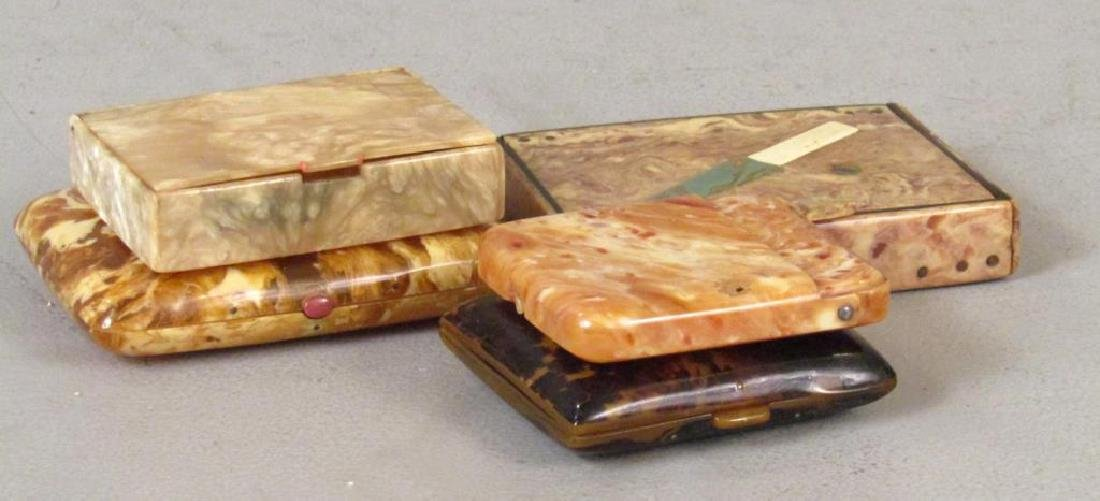 5  Faux Tortoiseshell Boxes / Cases - 2