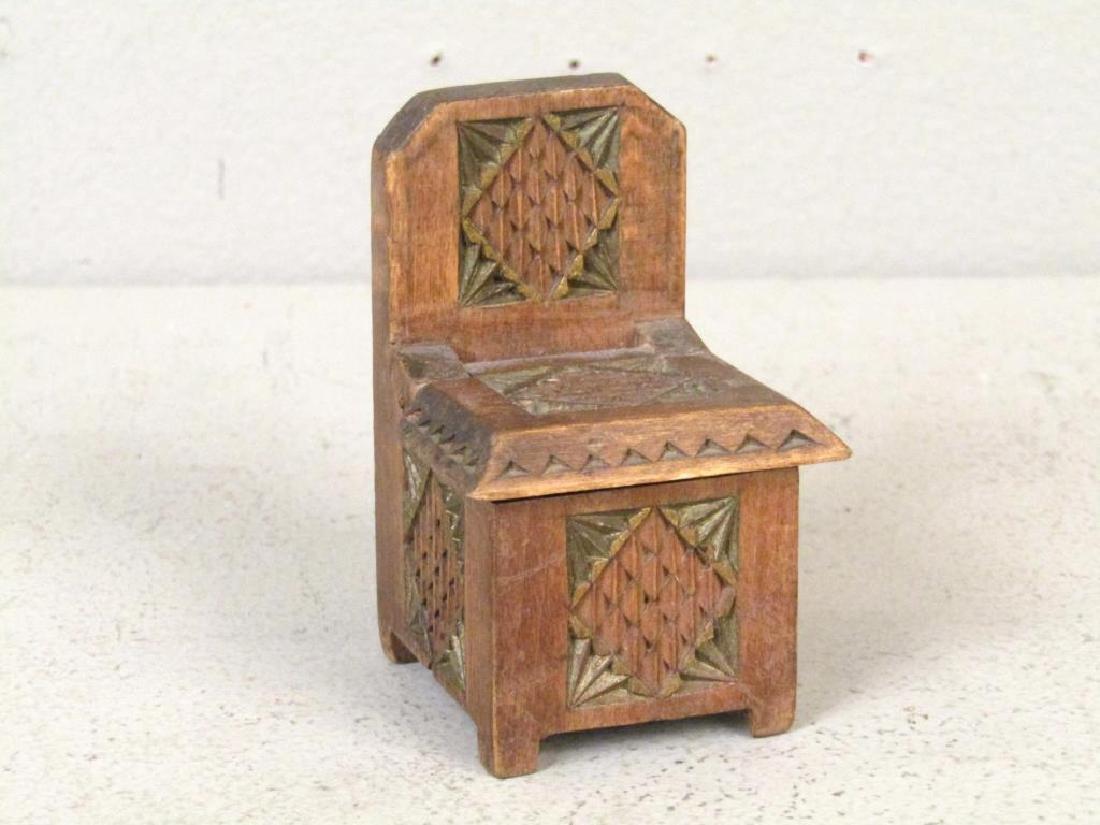 3 Artisan Russian Wood Salt Cellars - 6