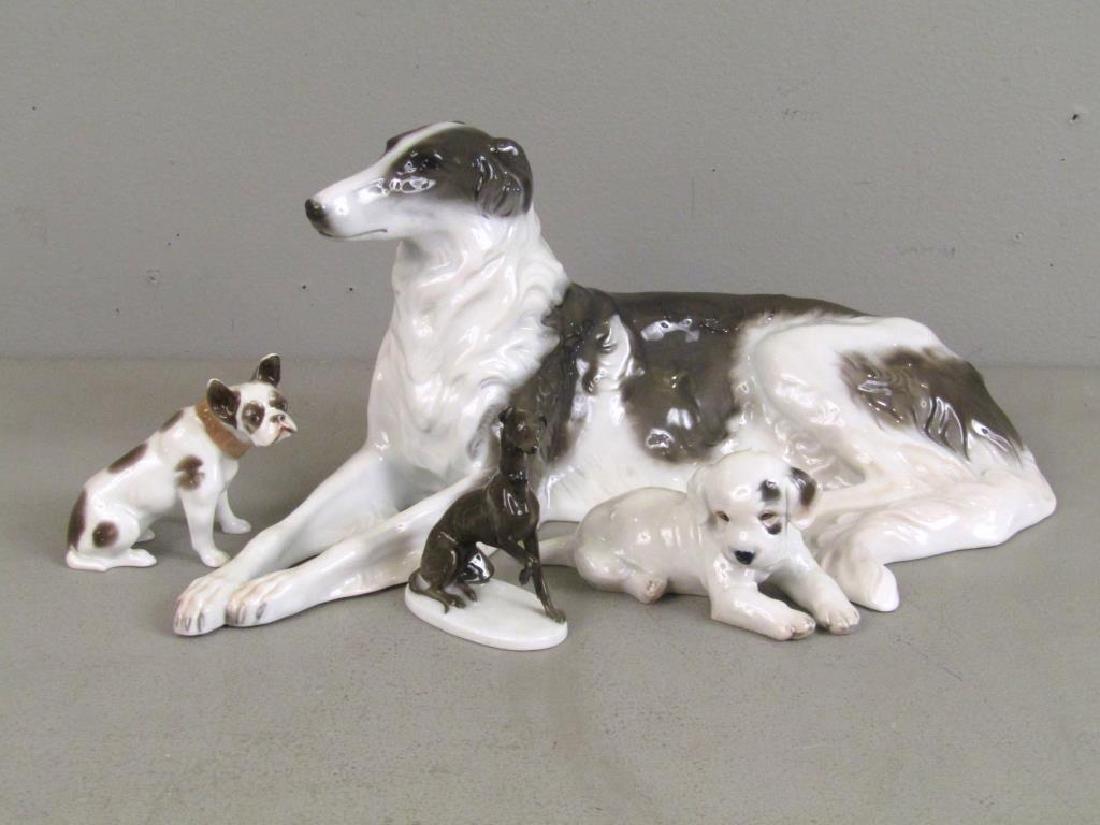 4 Rosenthal Porcelain Dogs