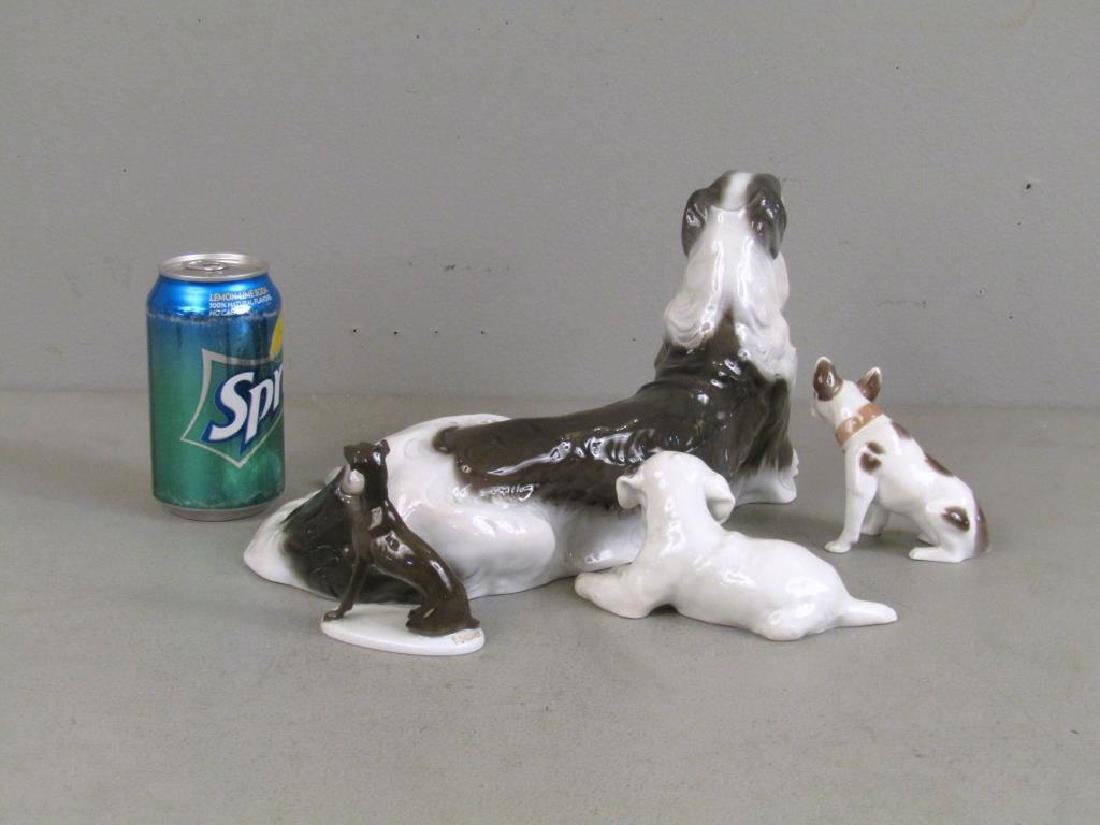 4 Rosenthal Porcelain Dogs - 2