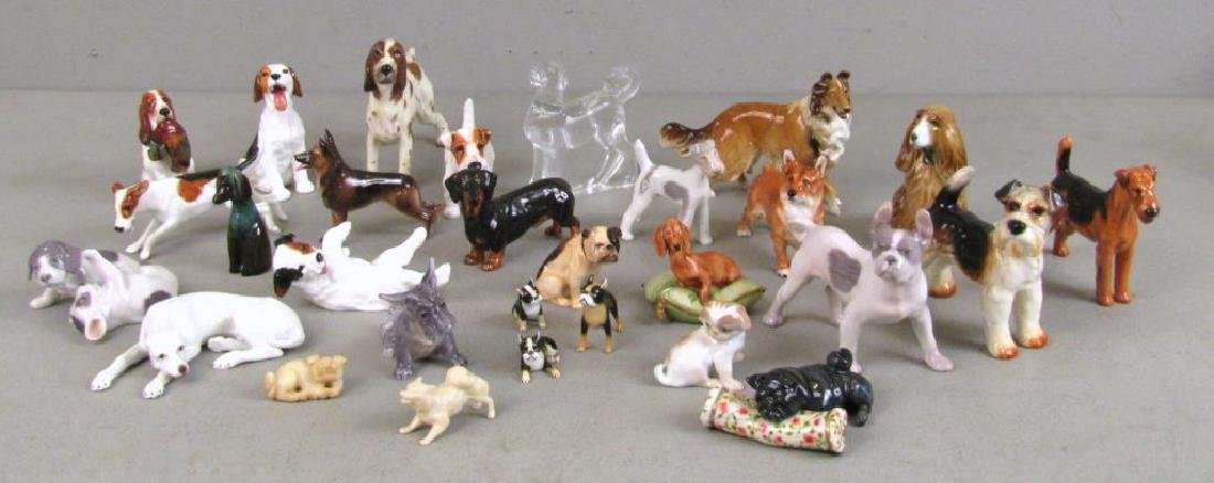 Large Lot of Dog Figurines