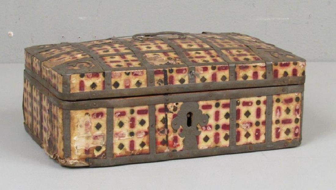 Antique Wood and Metal Box