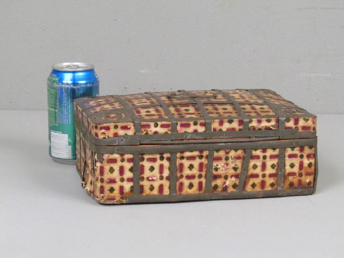 Antique Wood and Metal Box - 2