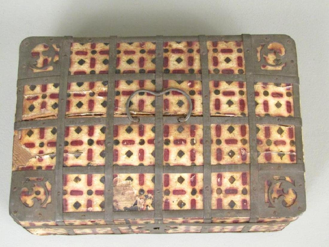 Antique Wood and Metal Box - 3