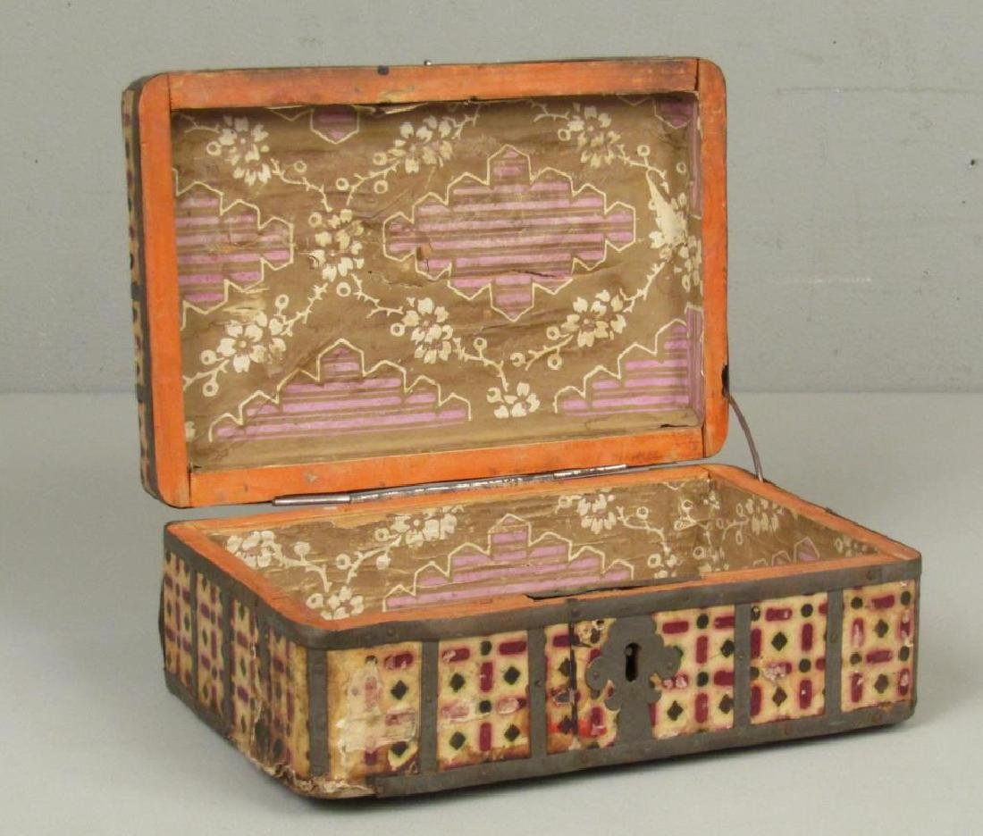 Antique Wood and Metal Box - 4
