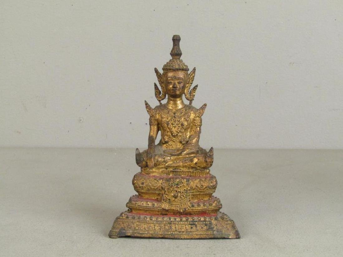 Small Gilt Metal Bodhisattva