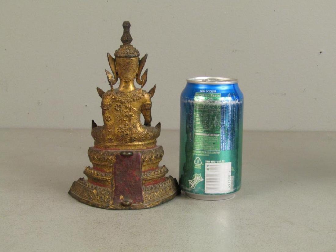Small Gilt Metal Bodhisattva - 2
