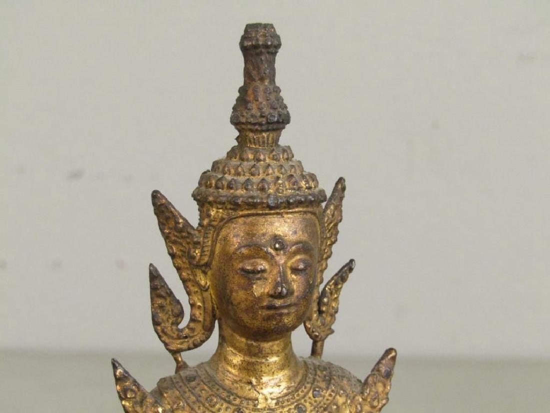 Small Gilt Metal Bodhisattva - 3