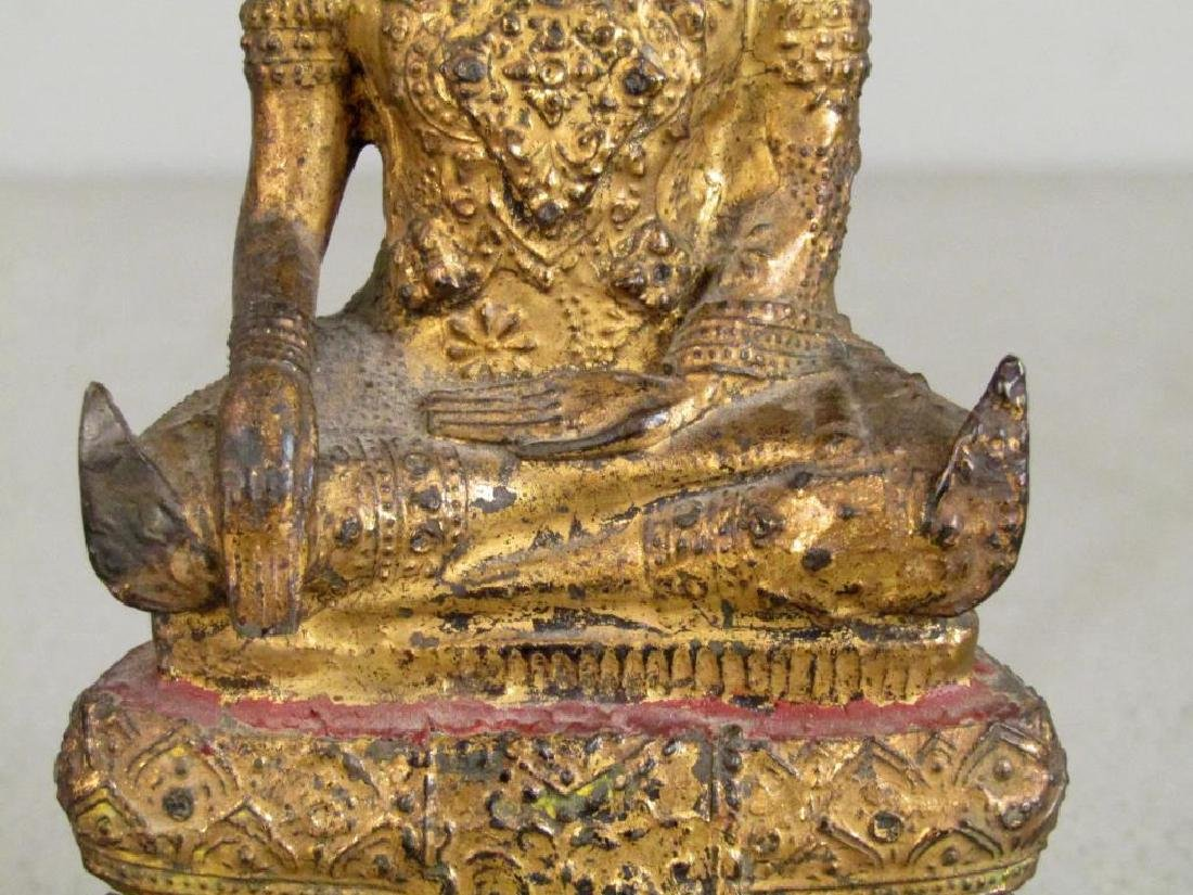 Small Gilt Metal Bodhisattva - 4