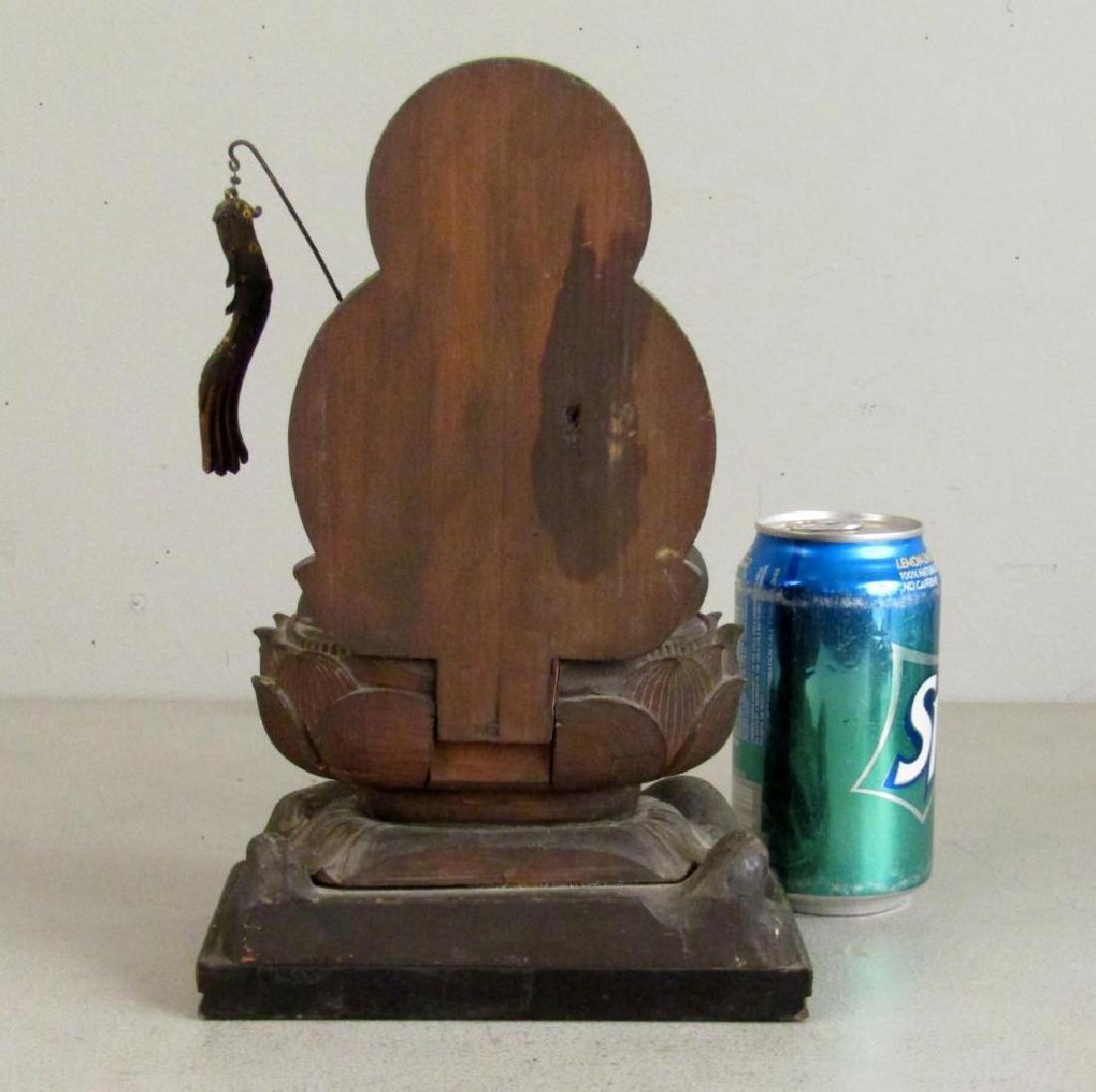 Chinese Carved Wood Seated Buddha/Bodhisattva - 10