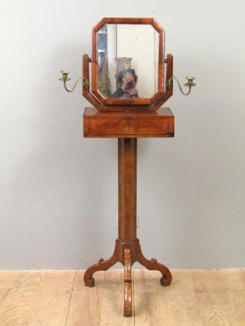 Antique English Standing Shaving Mirror