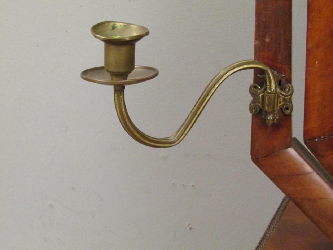 Antique English Standing Shaving Mirror - 4