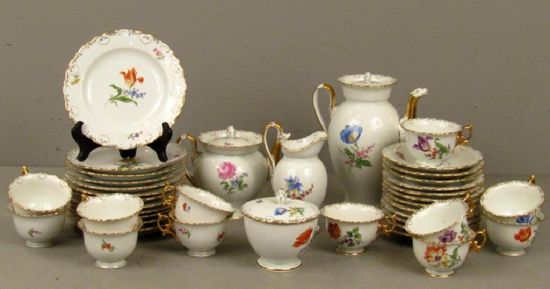 40 Piece Meissen Porcelain Dessert Set