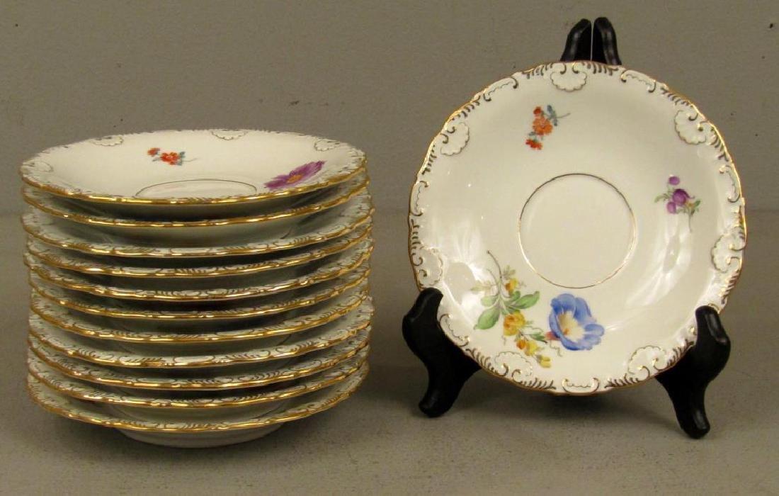 40 Piece Meissen Porcelain Dessert Set - 8