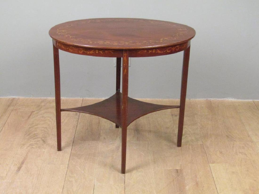 Dutch Marquetry Inlaid Table