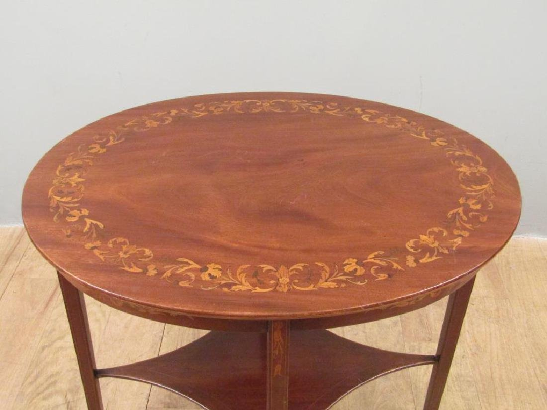 Dutch Marquetry Inlaid Table - 2