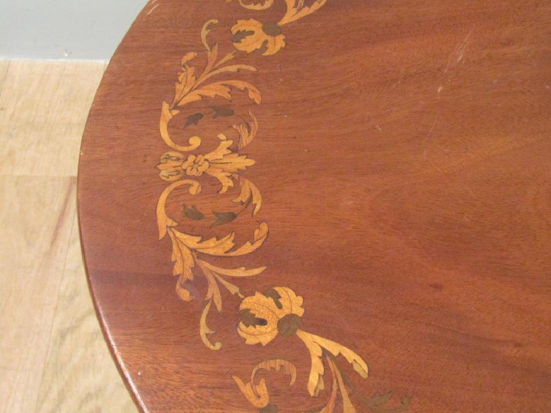 Dutch Marquetry Inlaid Table - 3