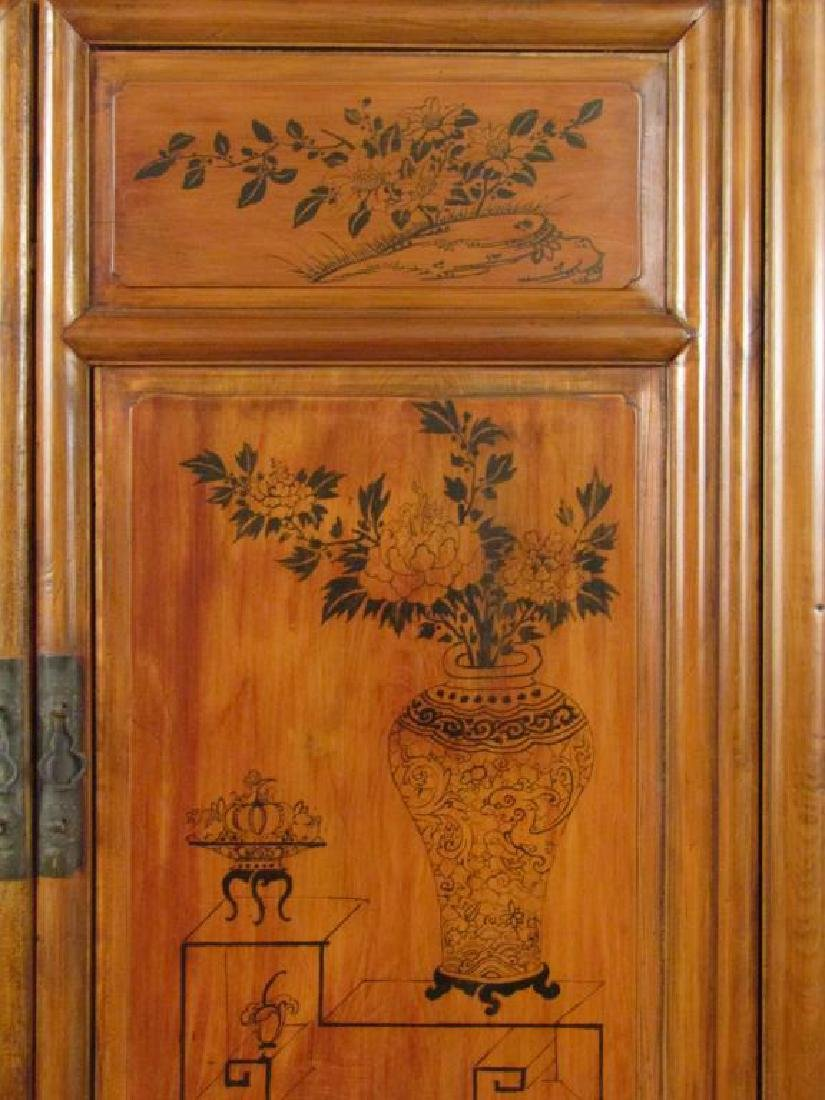 Antique Chinese 2 Part Cabinet - 3