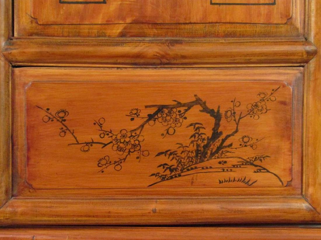 Antique Chinese 2 Part Cabinet - 5