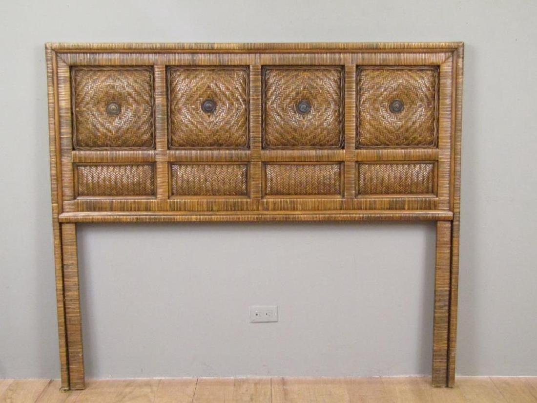 Queen Size Rattan Headboard