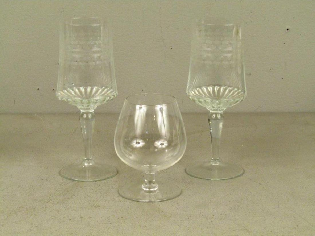 Cut Glass Decanter and Assorted Glassware - 5